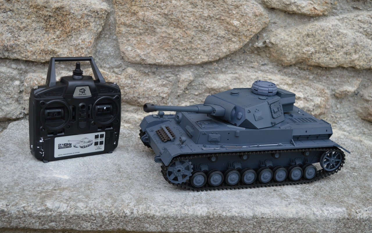 RC model tanku Panzer IV Ausf. F2 - Airsoft 2.4 GHz - ŠEDÝ