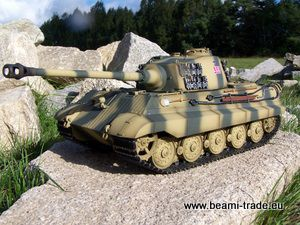 RC tank TIGER II (KINGTIGER) - IR 27 MHz - METAL EDICE - forest