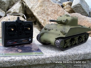RC tank M4A3 Sherman - Airsoft - BB - airbrush lak