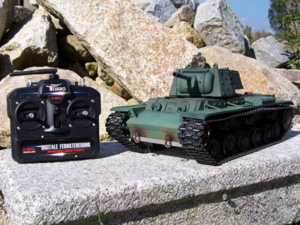 RC tank KV-1 - AIRSOFT 2.4 GHz - AIRBRUSH