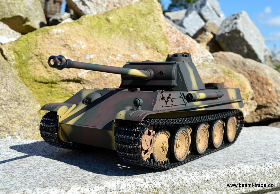 RC tank Panther G - INFRARED 2.4 GHz - MASKOVANÝ AIRBRUSH