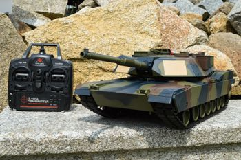 RC tank M1A2 Abrams - Airsoft 2.4 GHz - CAMOUFLAGE