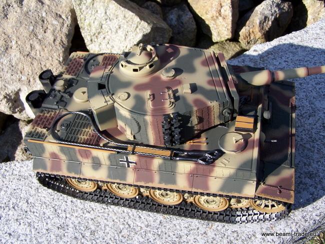 RC tank Tiger na dálkové ovládání - kamufláž - 1/16 - Taigen - 8