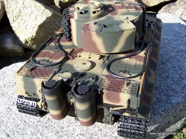 RC tank Tiger na dálkové ovládání - kamufláž - 1/16 - Taigen - 9