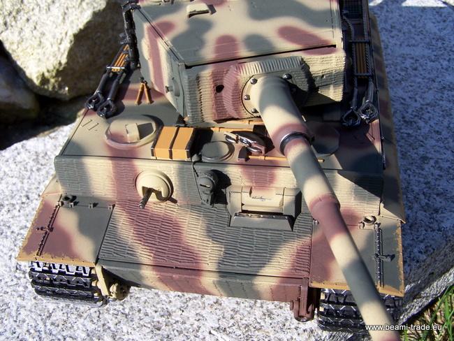 RC tank Tiger na dálkové ovládání - kamufláž - 1/16 - Taigen - 10