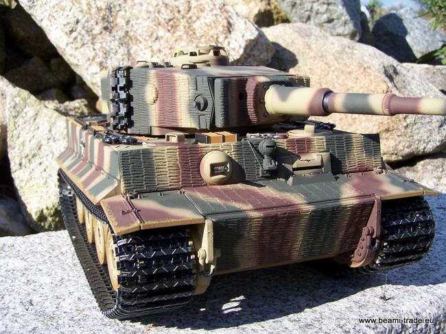 RC tank Tiger na dálkové ovládání - kamufláž - 1/16 - Taigen - 11