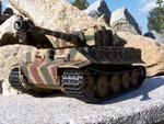 RC tank Tiger na dálkové ovládání - kamufláž - 1/16 - Taigen - 12