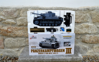 RC model tanku - Panzer III Ausf. L - Airsoft 2.4 GHz