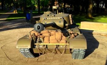 Rc tank M26 Pershing na dálkové ovládání - Autor: Jiří Zámečník